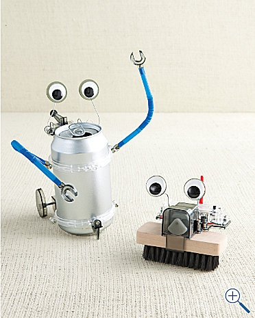 Robot Kit: Make a silly moving robot from common household objects! $15