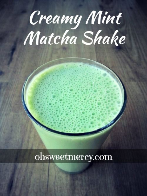 This Creamy Mint Matcha Shake is delicious, easy to make and healthy! Matcha's benefits plus Trim Healthy Mama friendly - S or FP versions.