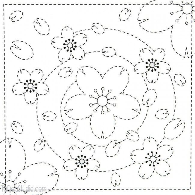 Japanese Sashiko Embroidery Sampler Kits | TaDaa Studio TaDaa Studio