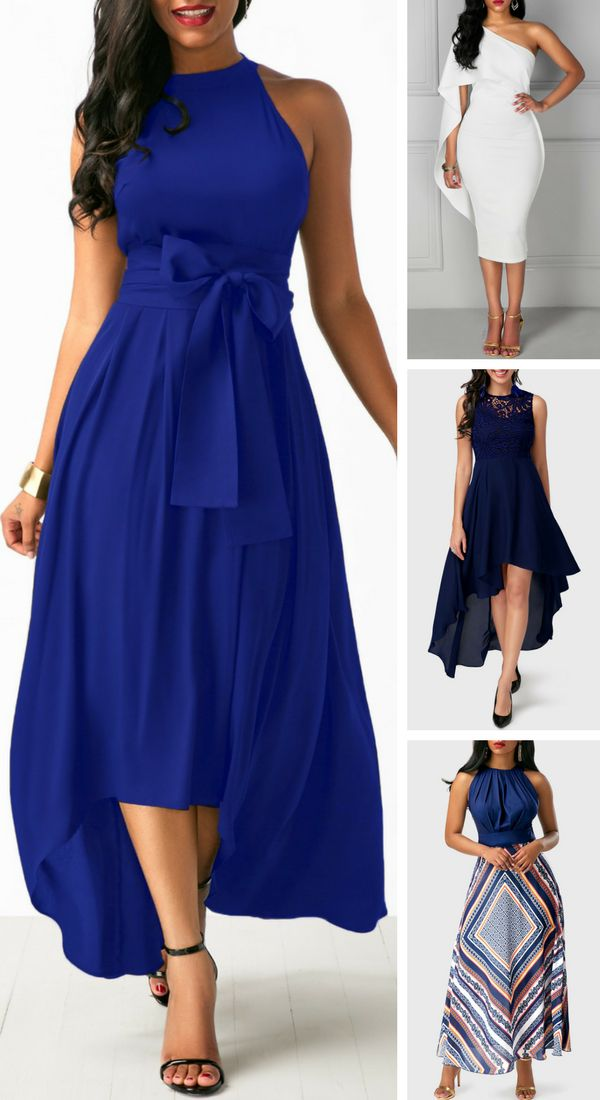 sleeveless dress, midi dress, classy dress, blue dress