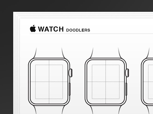 Here are some Apple Watch wireframes you may find useful to sketch your app. Free AI and PDF created and released by Jed Bridges.