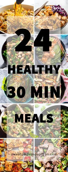 A ton of ideas for healthy 30 minute meals...get dinner on the table easily…