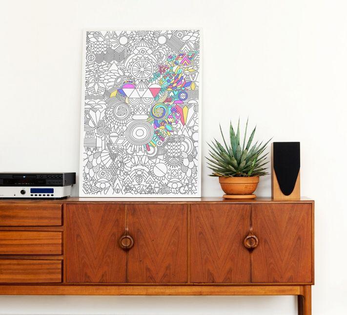 OMY - Happy patchwork - Coloriage géant