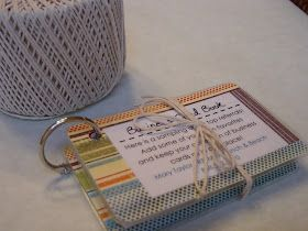 Mary's Pop By Ideas: Business Card Book