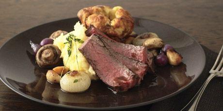 // Prime Rib Roast with Horseradish Mashed Potatoes