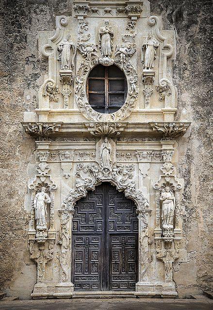 Main Door, Mission San Jose, San Antonio, Texas Greater Utica Chamber Tour Nov 2-6 2014.