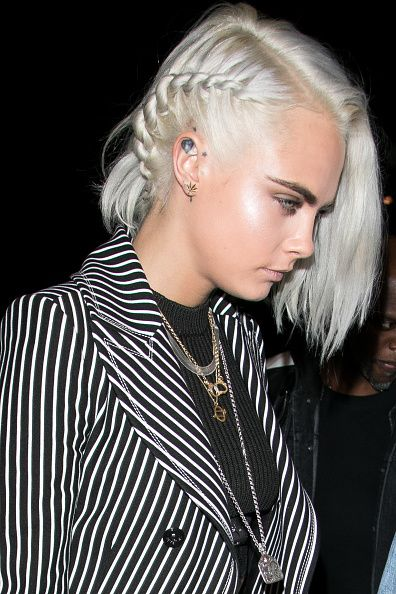Cara Delevingne is seen on March 4 2017 in Paris France