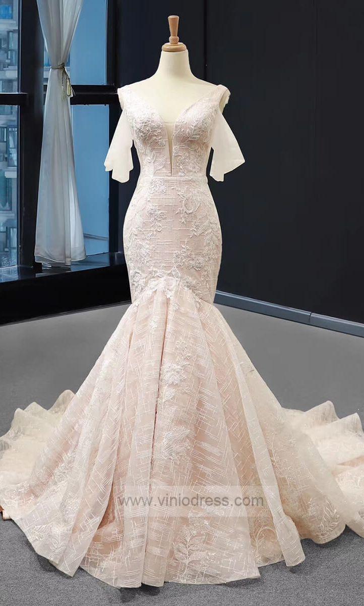 Lace Mermaid Wedding Dresses Vintage Beaded Wedding Gown Vw1043 Mermaid Wedding Dress With Sleeves Lace Mermaid Wedding Dress Satin Mermaid Wedding Dress [ 1200 x 722 Pixel ]