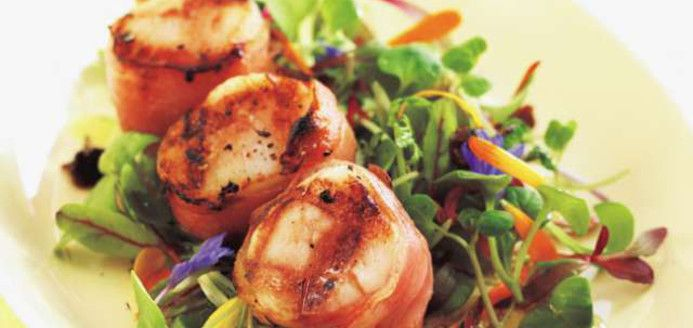 Brochettes de pétoncles à la pancetta Recettes | Ricardo