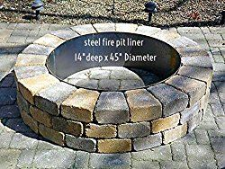 Fire Pit Liner- Round Campfire Ring- 45″Dia. x 14″ Deep