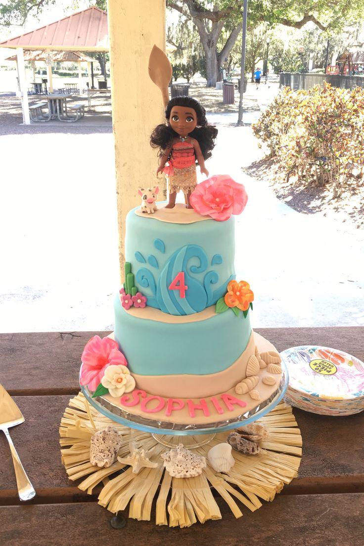 Moana cake #moana, #moanacake