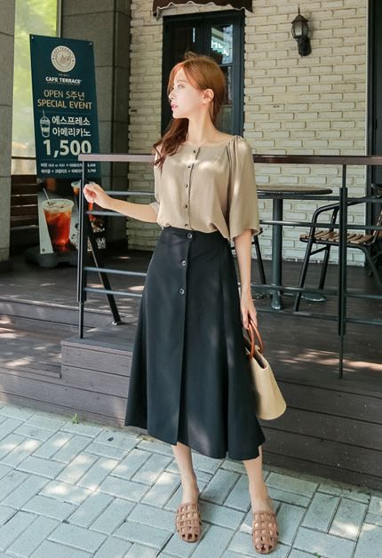 77e3affbe6 Check Out the Lastest Korean Clothes Fashion Style Trend - High Quality  Long Skirt by MakMaks
