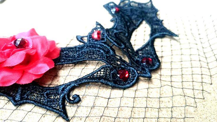 Sexy Roes Black Bat Mask Fashion Black Lace Party Ball Masquerade Mask Dress