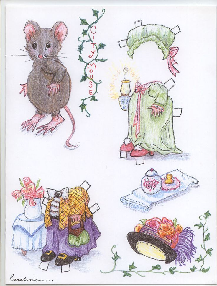 City Mouse Paper Mouse Doll