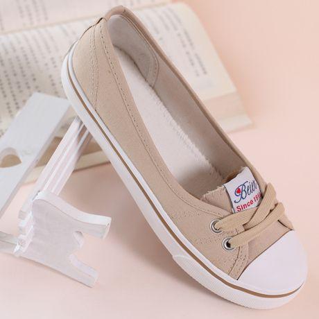 2015 verão sapatas de lona boca rasa femininos sapatos para as mulheres respirável sapatos casuais sapatos rasos preguiçosos mulheres sneakers 5 cores em Tênis Estilosos de Sapatos no AliExpress.com | Alibaba Group