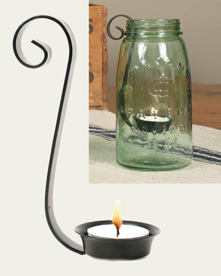 Mason Jar Tea Light Candle Holder