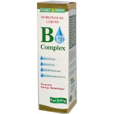 Nature's Bounty Sublingual Liquid B-Complex With B-12 Buy Online at Best Price in India: BigChemist.com
