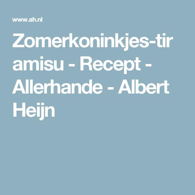 Zomerkoninkjes-tiramisu - Recept - Allerhande - Albert Heijn
