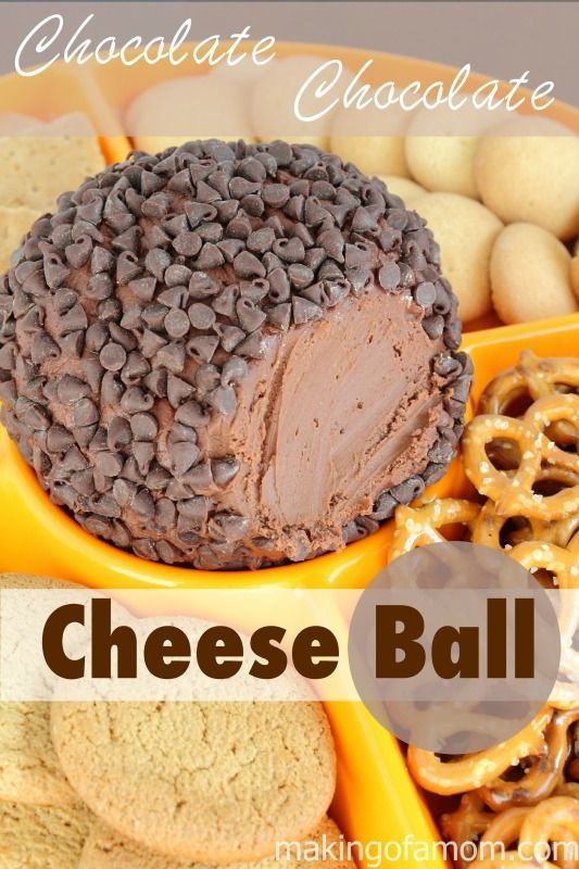 Chocolate Chocolate Cheese Ball -  so easy and so good! This is a great party appetizer, dip or dessert.