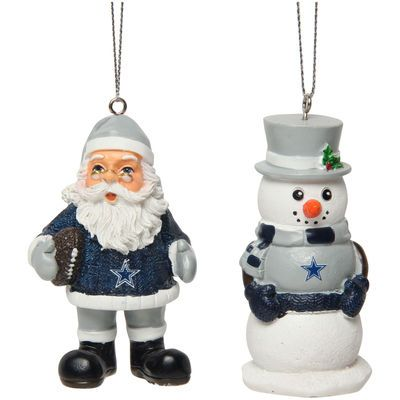 Dallas Cowboys Saint Nick and Snowman 2-Pack Ornament Set - Fanatics.com