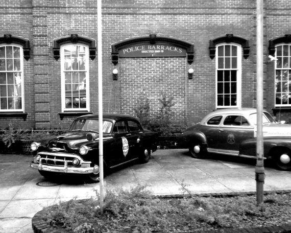 Police Barracks in Savannah Georgia by PetitePastiche on Etsy, $30.00