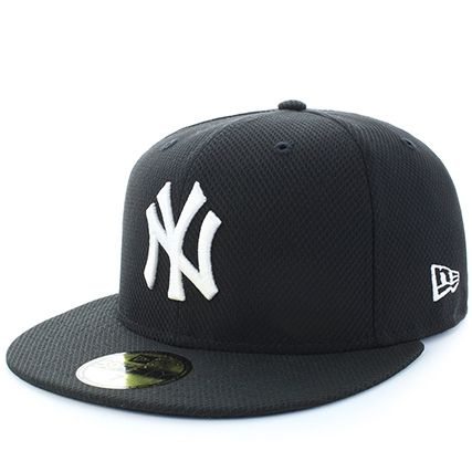 New Era - Casquette Fitted Diamond Essential Mix New York Yankees Noir Blanc - LaBoutiqueOfficielle.com
