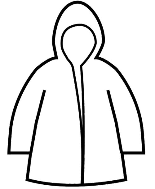 Raincoat Winter Coloring Page