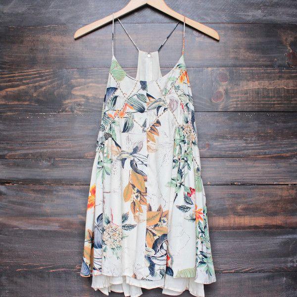x shophearts - bohemian day dress - tropical print