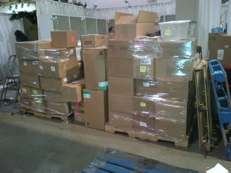 Yes those boxes are all filled with chocolate. Ready to set up for the Christmas One of A Kind Show.