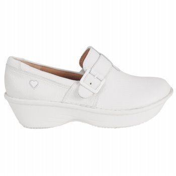 Nurse Mates Women's Gelsey Clog Shoes in White. Available at the  iStudentNurse Shop for Nurses