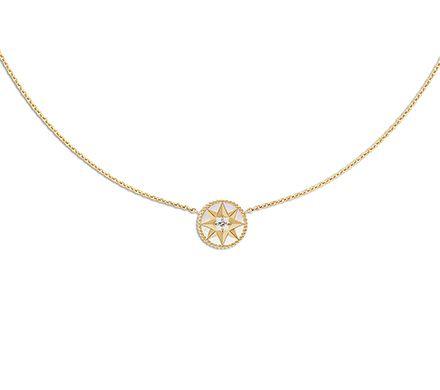 Collier DIOR Rose des vents - or jaune, diamant et nacre