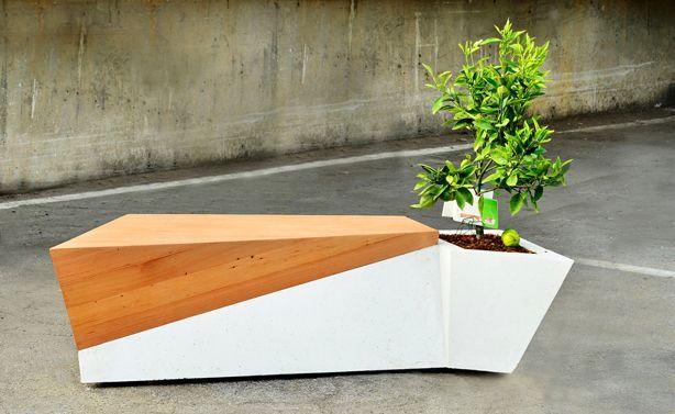 dual purpose indoor/outdoor furniture - bench/planter