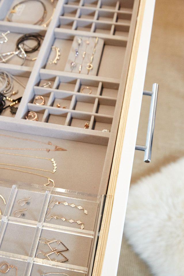 Organization ideas - pull out jewelry storage drawer.