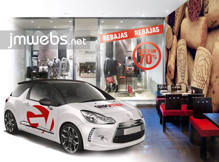Todo en Servicios de Rotulación, rotulación de escaparates, rotulación de vehículos, expositores displays. Precios en: www.jmwebs.net o Teléfono 935160047