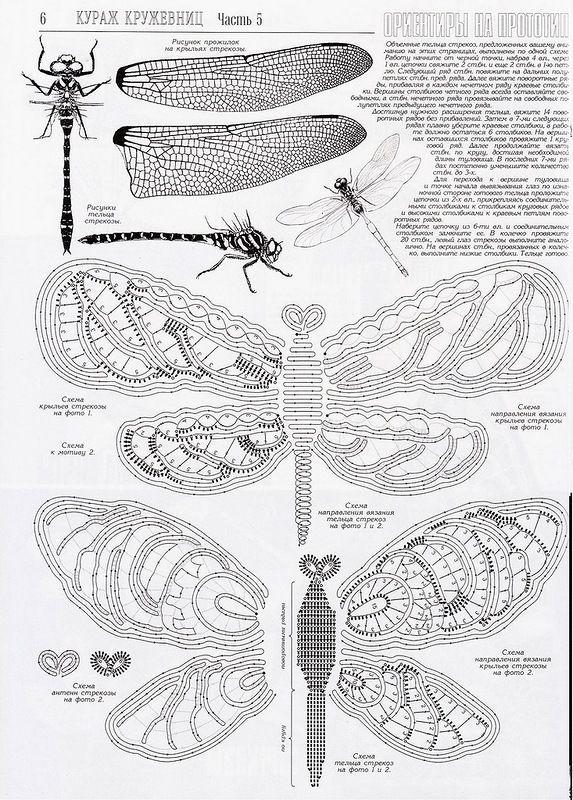 Irish crochet dragonfly Needlework - unser Hobby