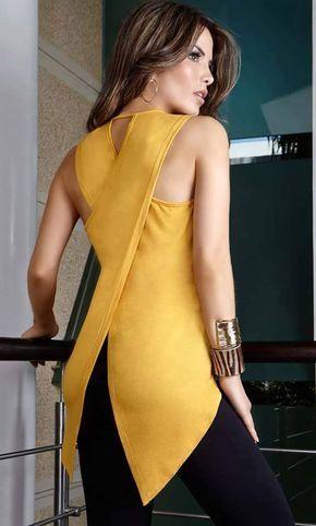 Patrón y costura : Blusa cruzada en la espalda.Cosemos juntas mayo 2016 diy …