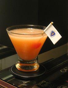 Ward 8 cocktail (whiskey, orange and lemon juices, grenadine)
