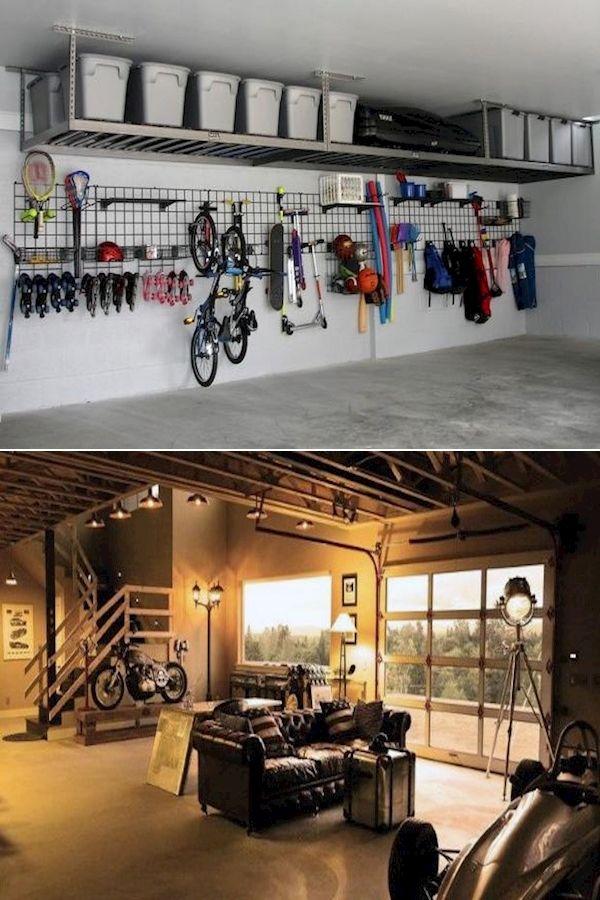 Garage Storage Ideas Automotive Signs And Banners Retro Garage Ideas In 2020 Garage Design Interior Garage Design Garage Interior
