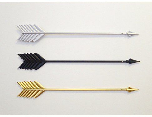 Pin for Later: 70+ Wall Decor Picks That Make a Statement Three Metal Arrows — Wall Decor Three Metal Arrows — Wall Decor ($36)