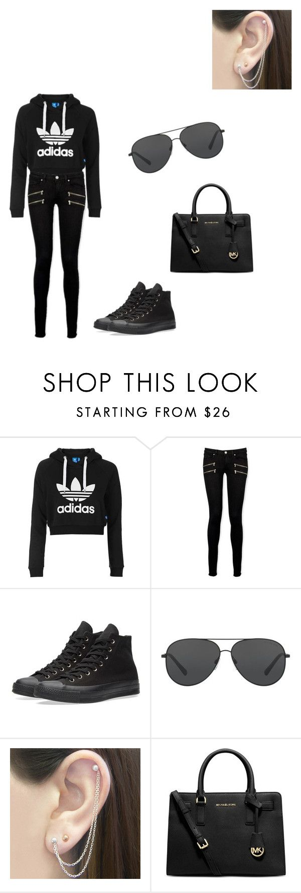 """""""Untitled #3"""" by duck-y ❤ liked on Polyvore featuring Topshop, Paige Denim, Converse, Michael Kors and Otis Jaxon"""