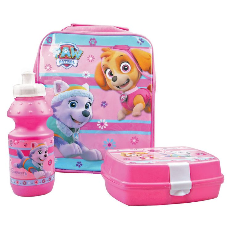 Paw Patrol Lunch Set INCLUDES: Sport Bottle, Lunch Box & Lunch Bag. COLOUR: PINK FEATURES: HANDLE…