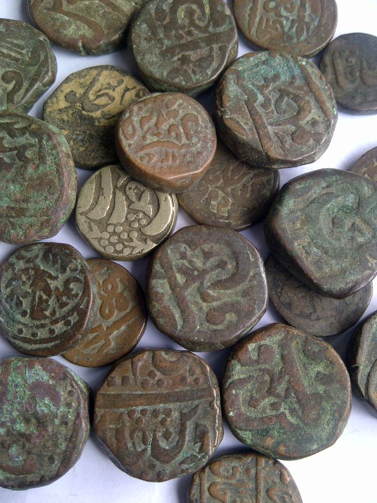 Old coins from Orccha, Rajasthan