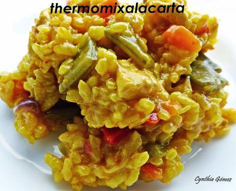 Arroz con pollo en Thermomix, Arroz con verduras receta, arroz con pollo y verduras receta en THERMOMIX