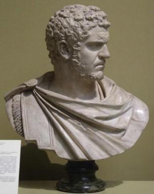 Портрет Каракаллы (186 - 217 гг.) Римский император с 211 по 217 гг. Первая четверть III в. конец эпохи принцита