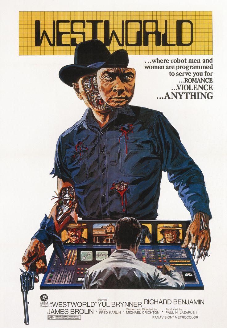WESTWORLD (1973)                                   Westworld ist ein US-amerikanischer Science-Fiction-Film von Regisseur, Drehbuch- und Bestsellerautor Michael Crichton aus dem Jahre 1973.