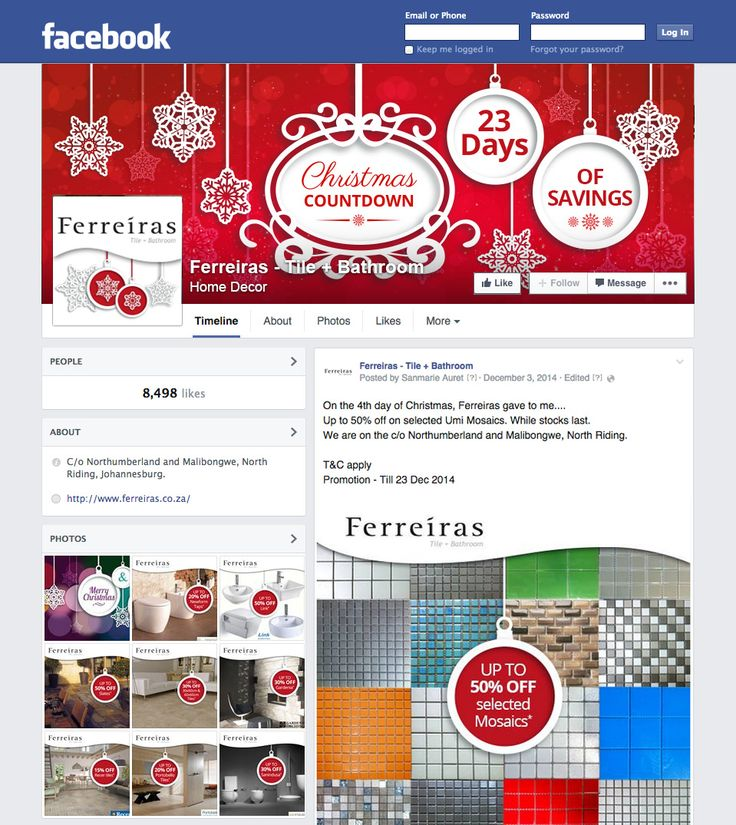 Ferreiras Christmas Countdown - Design and application of Facebook banners and daily discount posts for the campaign. CONCEPT, DESIGN, ROLLOUT