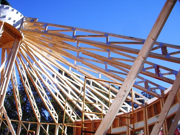 Round House Roof Trusses And Green Building On Pinterest