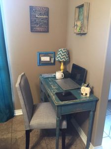 small office in bedroom. A Corner #tiny Office Www.organizetips.com Small In Bedroom D