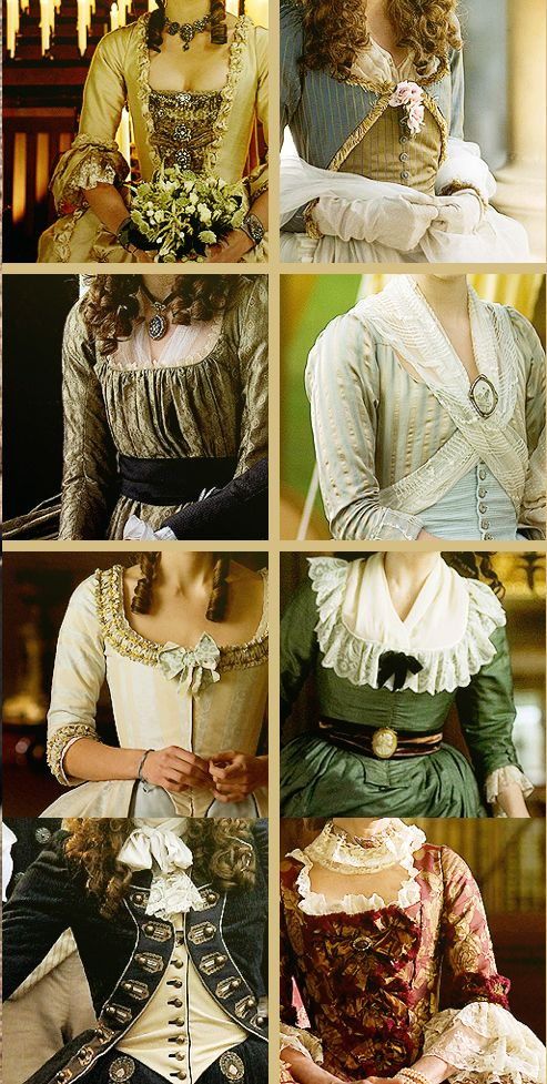 "Los preciosos detalles de los vestidos de Michael O'Connor (""The Duchess (2008). Images courtesy of fripperiesandfobs"")"