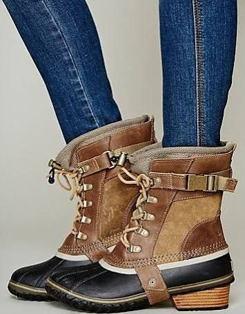 sorel womens boots - I like these in a weird way...where would I wear them? Horseback riding? LOL. Cute because they are different :)